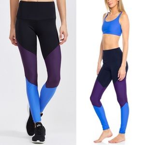Onzie Dhalia High Rise Track Leggings Colourblock